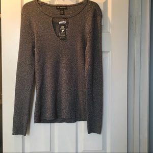 BLACK INC sweater with silver highlights